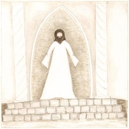Jesus Teaches at Temple by Cindy Shamp art print