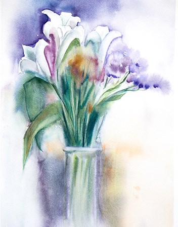 Purple Still Life by Olga Shefranov art print