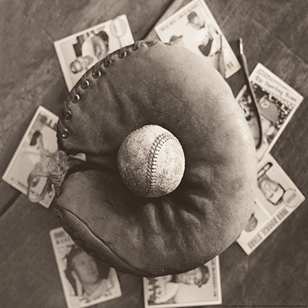 Baseball Cards by Yellow Café art print