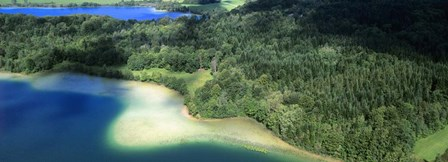 Aerial View of a Lake, Grand Lac Maclu, France by Panoramic Images art print