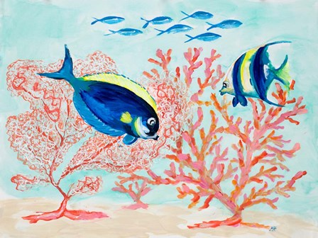 Coral Reef I by Julie DeRice art print