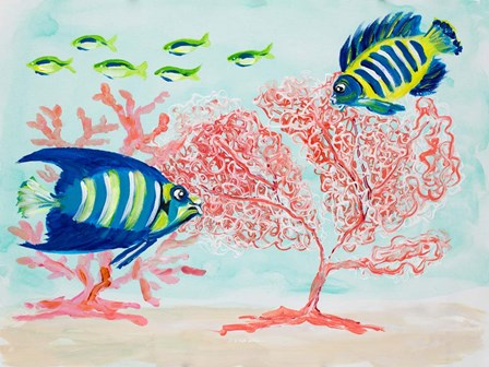 Coral Reef II by Julie DeRice art print