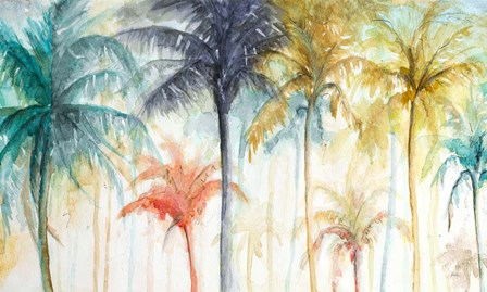 Watercolor Summer Palms by Patricia Pinto art print