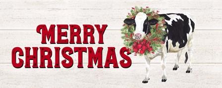 Christmas on the Farm - Merry Christmas by Tara Reed art print