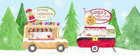 Food Cart Christmas panel II by Tara Reed art print