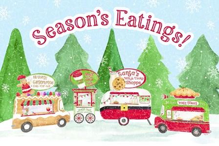 Food Cart Christmas - Seasons Eatings by Tara Reed art print