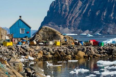 Greenland, Uummannaq Ice Fills The Harbor by Inger Hogstrom / Danita Delimont art print