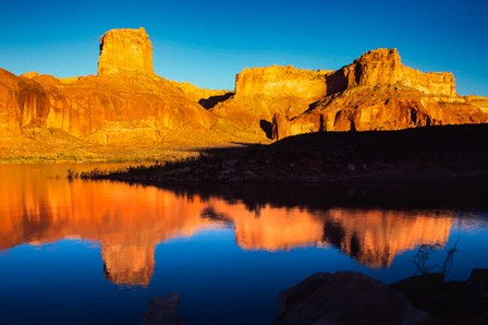 Reflection, Lake Powell National Recreation Area, Utah, Arizona by Zandria Muench Beraldo / Danita Delimont art print