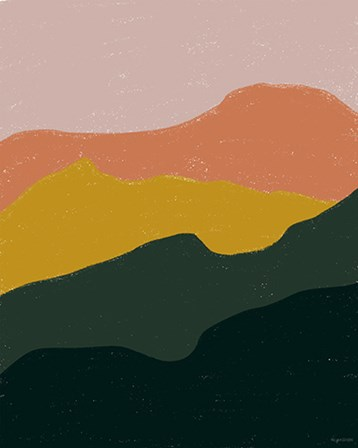 Terracotta Mountains by Kyra Brown art print
