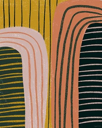 Retro Terracotta by Kyra Brown art print