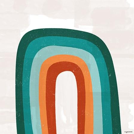 Teal Orange Rainbow by Kyra Brown art print