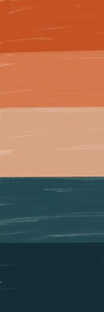 Teal Orange Sunset I by Kyra Brown art print