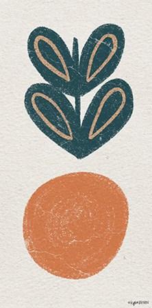 Retro Orange by Kyra Brown art print
