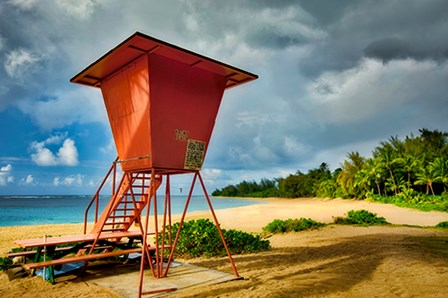 Lifeguard Tower II by Dennis Frates art print