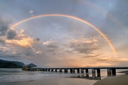 Rainbow Pier by Dennis Frates art print