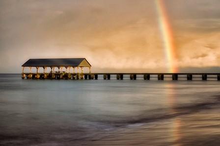 Rainbow Pier II by Dennis Frates art print