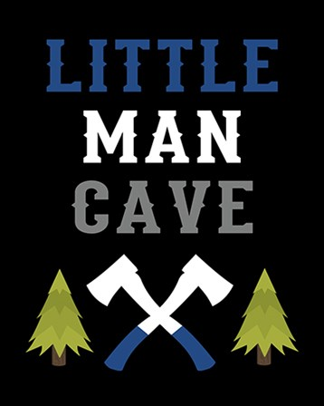 Little Man Cave by Tamara Robinson art print