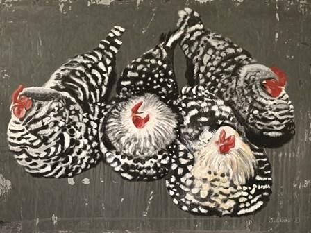 Four Hens by Suzi Redman art print