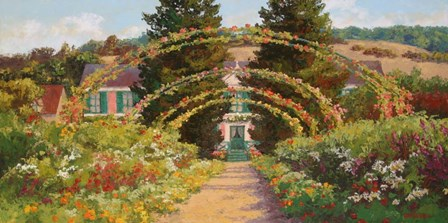 Monet's Grand Entrance by Erin Dertner art print