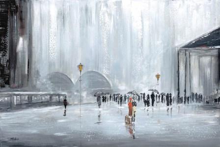 La Gare by Aziz Kadmiri art print
