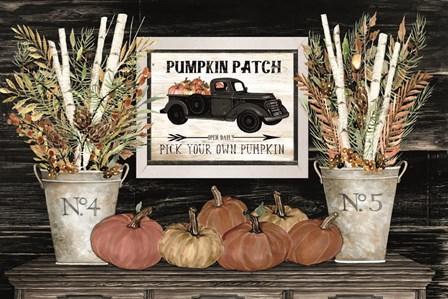 Pumpkin Patch Still Life by Cindy Jacobs art print
