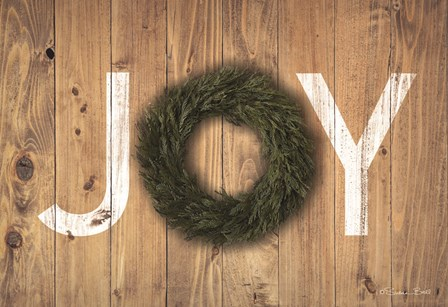 Joy Cedar Wreath by Susan Ball art print