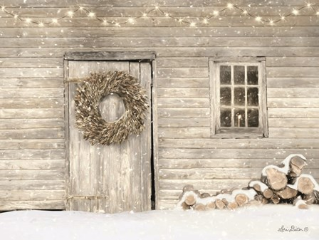 Old Farm Christmas by Lori Deiter art print