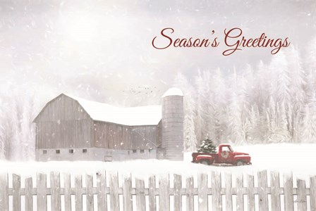 Season's Greetings with Truck by Lori Deiter art print
