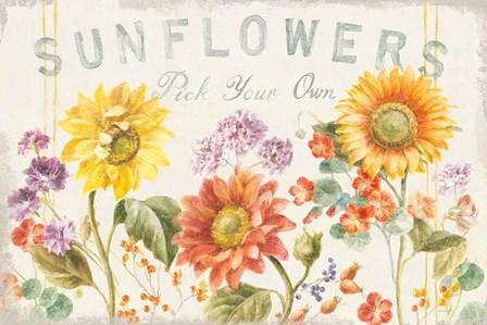 Floursack Autumn IX Sunflowers by Danhui Nai art print