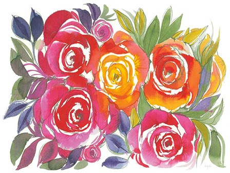 Bold Roses I by Kristy Rice art print
