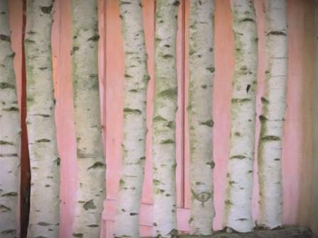 Birch Logs On Pink by Graffi*tee Studios art print