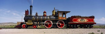 Train Engine On A Railroad Track, Locomotive 119, Utah by Panoramic Images art print