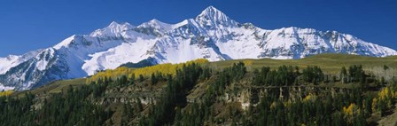 Low Angle View Of Snowcapped Mountains, Rocky Mountains, Colorado by Panoramic Images art print