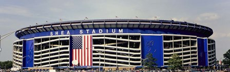 Facade Of Shea Stadium, Queens, New York by Panoramic Images art print