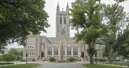 Front View Of Gasson Hall, Chestnut Hill Near Boston, Massachusetts by Panoramic Images art print
