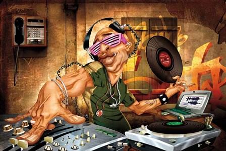 DJ Frank by Adam Perez art print