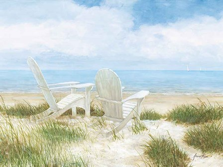 Beach Chairs by Arnie Fisk art print