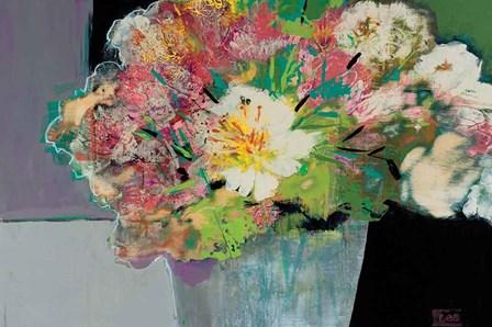 Flower Market by Leslie Bernsen art print