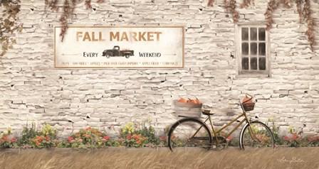 Fall Market with Bike by Lori Deiter art print