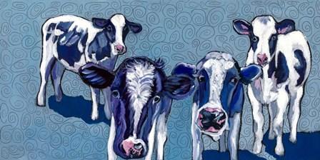 Four Cows by Kathryn Wronski art print