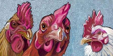Three Chicks by Kathryn Wronski art print