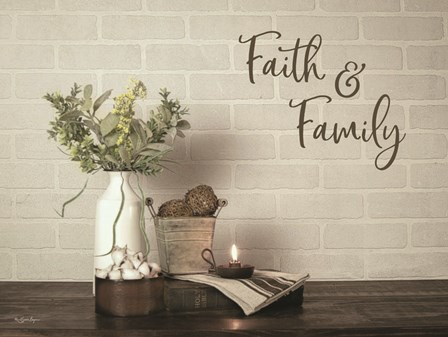 Faith & Family by Susie Boyer art print