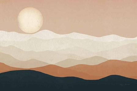 Mojave Mountains and Moon by Ryan Fowler art print