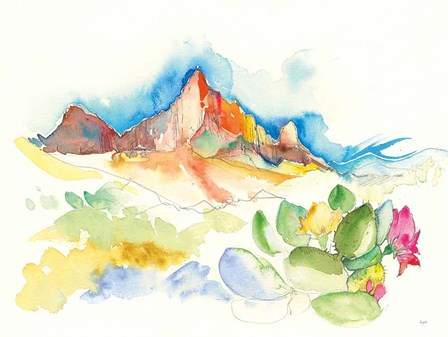 Desert Mountains by Kristy Rice art print