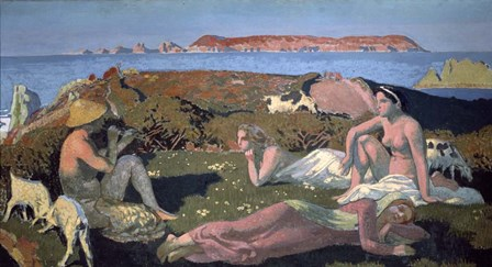 The Green Beach, Perros Guirec, 1909 by Maurice Denis art print