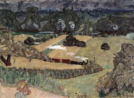 Landscape with Freight Train, 1909 by Pierre Bonnard art print