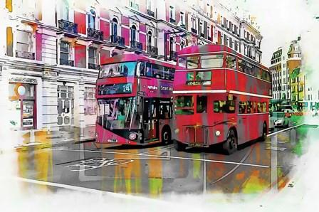 London Bus by A.V. Art art print