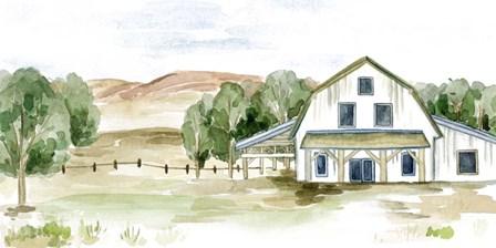 Farmhouse Landscape II by Melissa Wang art print
