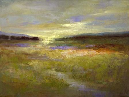 Light Across the Meadow II by Sheila Finch art print