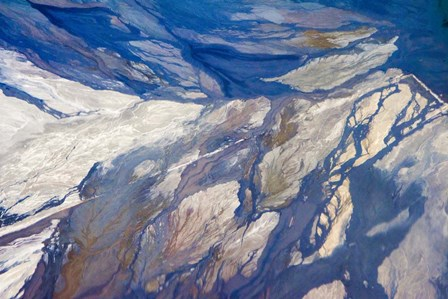 Aerial view of Highland Lakes on Atacama Desert, Chile by Keren Su / Danita Delimont art print